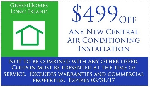 $499 off any new central ac installation, Expires March 31st