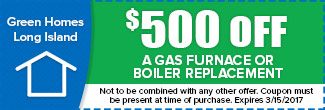 $500 off a Gas Furnace or Boiler Replacement, Expires December 31st