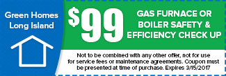 $99 Gas Furnace or Boiler Safety & Efficiency Check up, Expires December 31st
